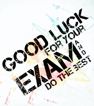 Good Luck For Your Exam Greeting