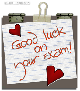 Good Luck On Your Exam Wishes Image