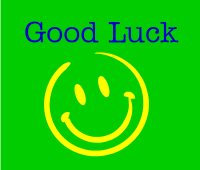 Good Luck Smiley Message