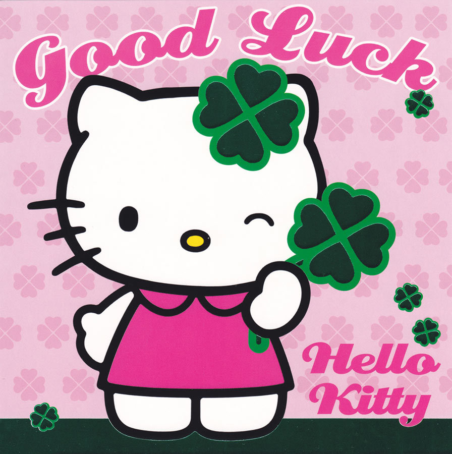 Good Luck Wishes By Hello Kitty Graphics
