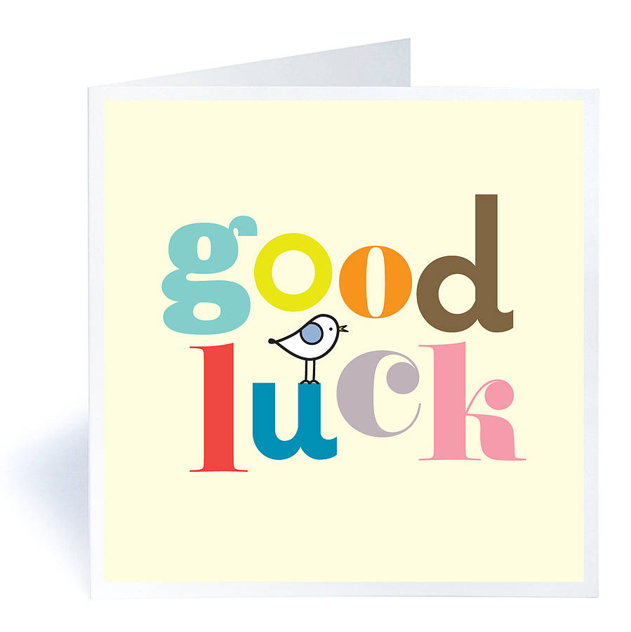 Good Luck Wishes E-Card Design