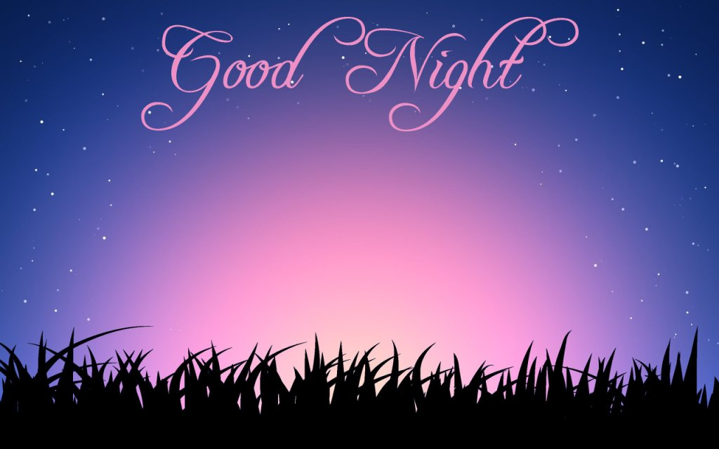 Good Night Message Wallpaper