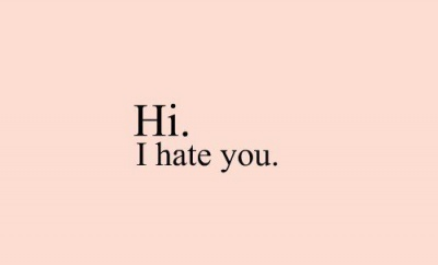 Hi I Hate You Text Image