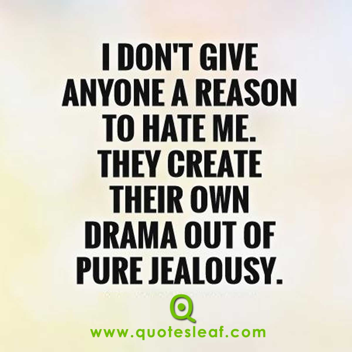 I Don't Give Anyone A Reason To Hate Me Quotes Image
