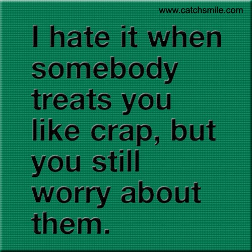 I Hate It When Somebody Treats You Like Crap Image