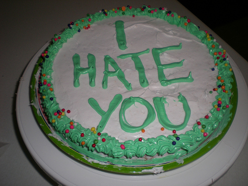 I Hate You Breakup Cake Picture
