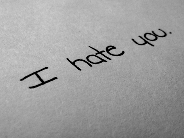 I Hate You Card Text Wallpaper