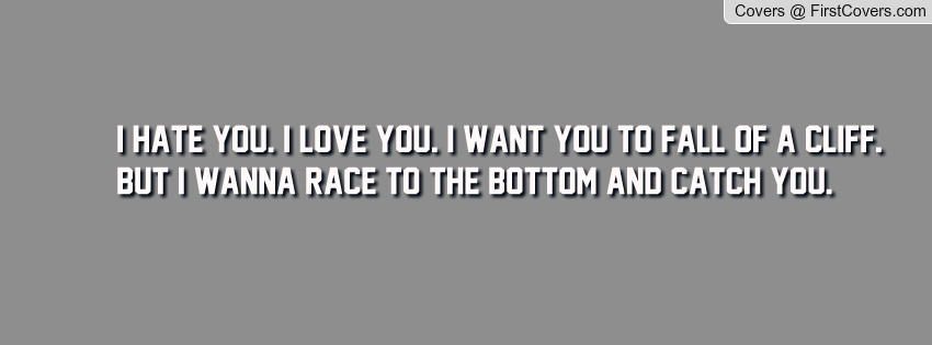 I Hate You I Love You Quotes Image