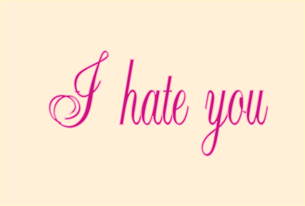 I Hate You Image Card