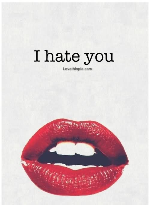 I Hate You Lips Image Card