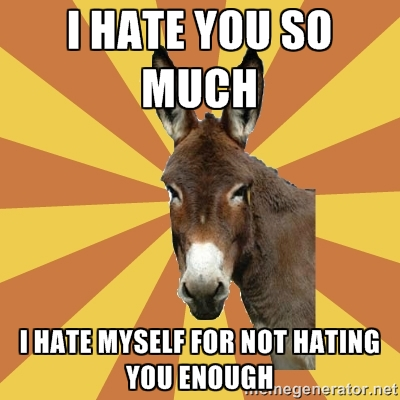 I Hate You So Much I Hate Myself Donkey Image