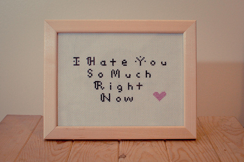I Hate You So Much Right Frame Message For Boyfriend