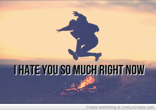 I Hate You So Much Right Now Wallpaper