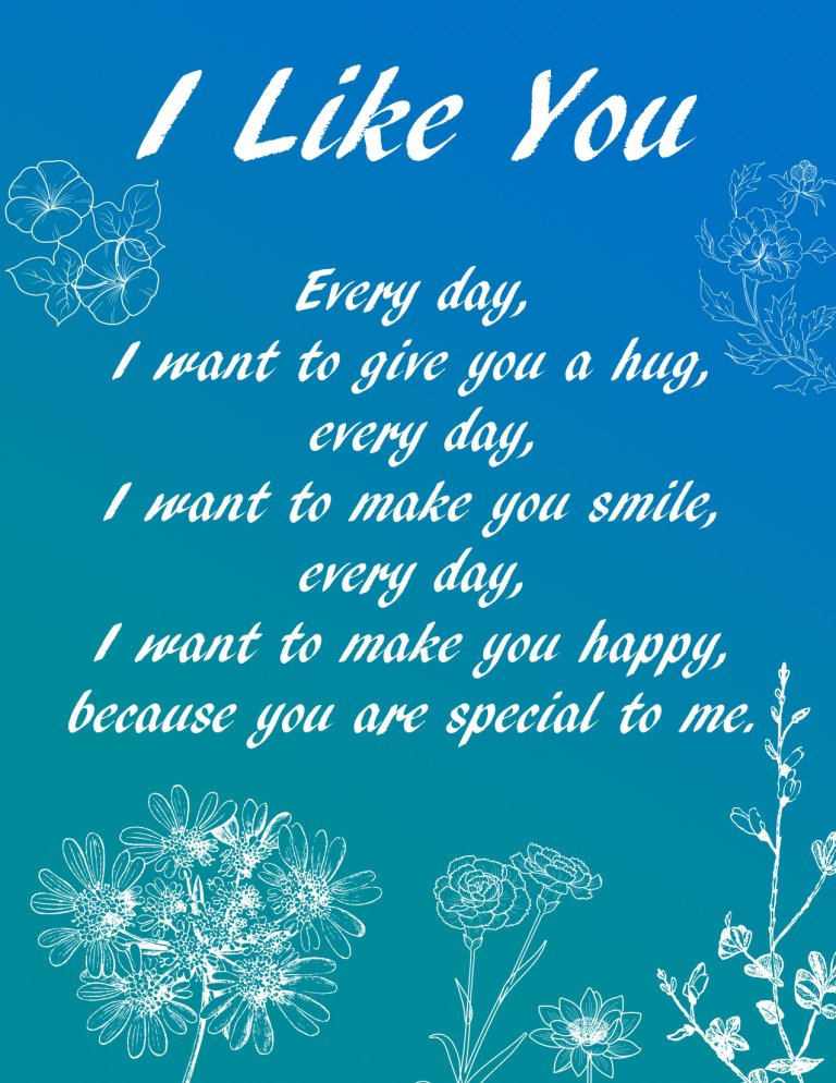 I Like You Everyday Greeting Message