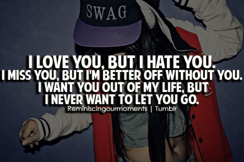 I Love You But I Hate You I Miss You Quotes Image