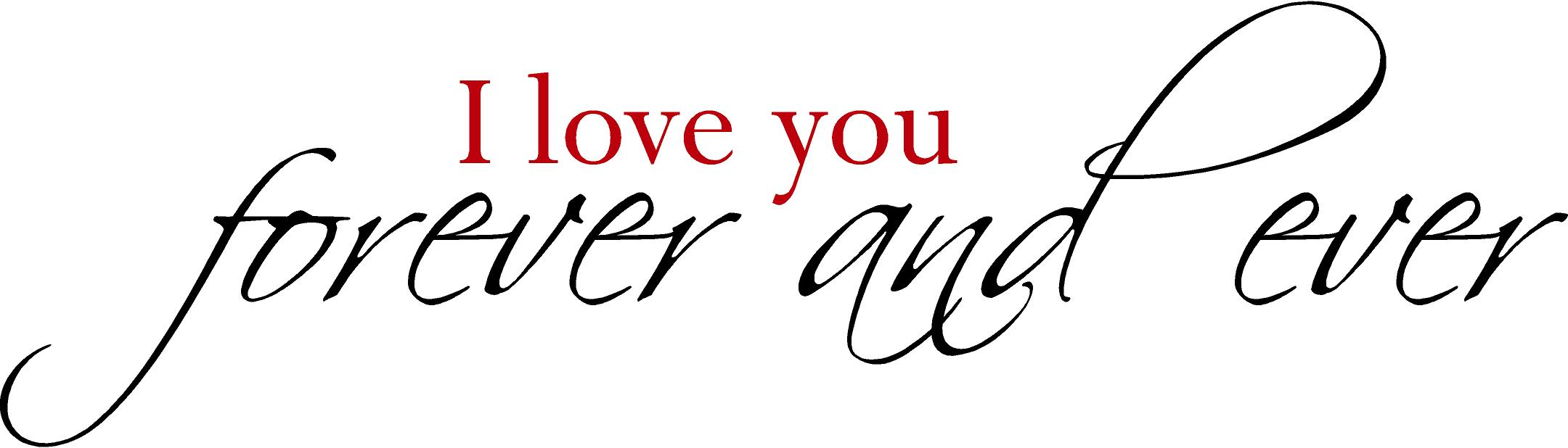 I Love You Forever And Ever Header Wallpaper - NiceWishes