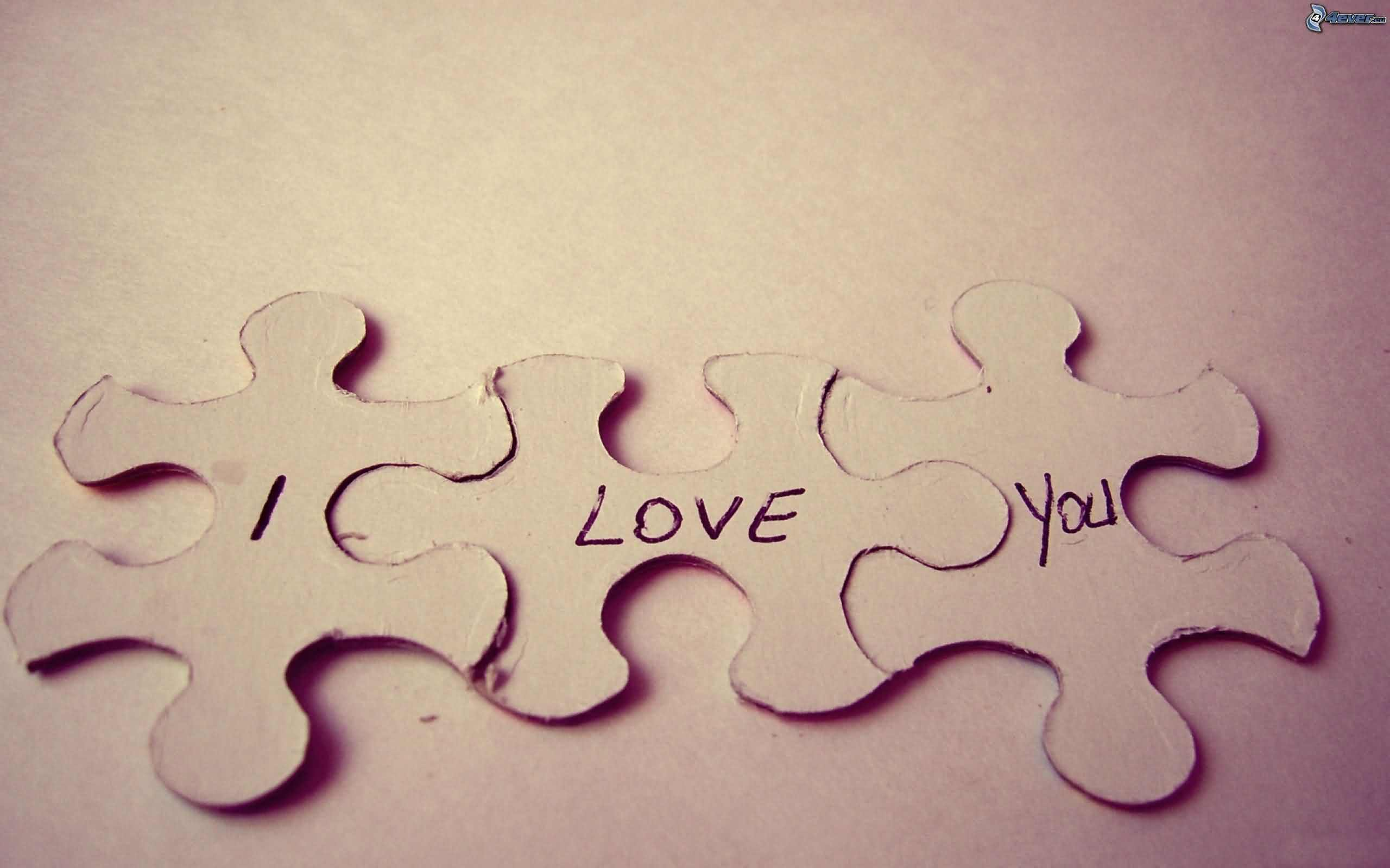 I Love You Puzzle Image