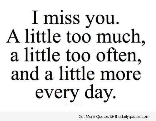 I Miss You A Little Too Much Text Message