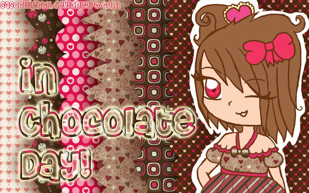 In Chocolate Day Girly Image