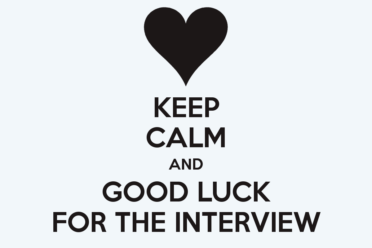 Keep Calm And Good Luck For The Interview Wishes Image