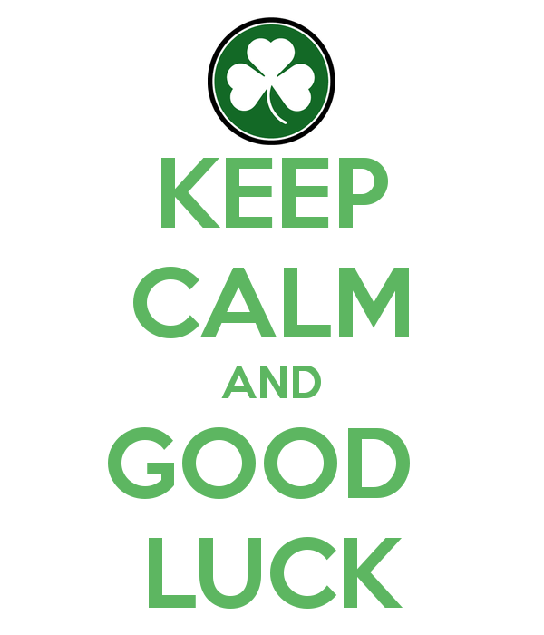Keep Calm And Good Luck Wishes