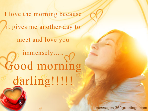 Love You Immensely Good Morning Darling Wishes Wallpaper