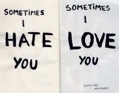 Sometimes I Hate You Sometimes I Love You Card