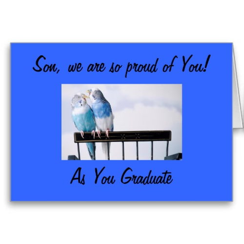 Son We Are So Proud Of You As You Graduate Wishes Card