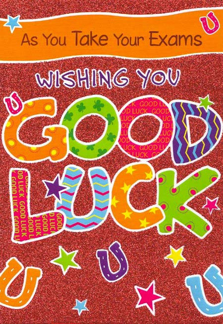 Wishing You Good Luck Wishes Card