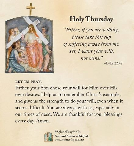 Holy thursday father if you are willing please take this cup 17 holy thursday wishes m4hsunfo