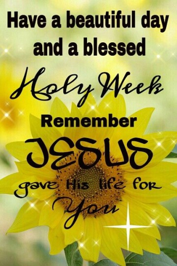 38-Holy Week Wishes