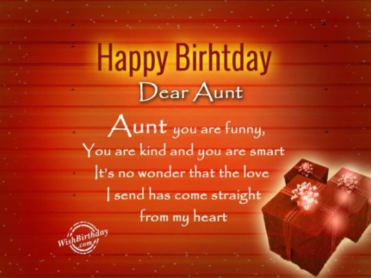 Adorable Aunt Birthday Wishes