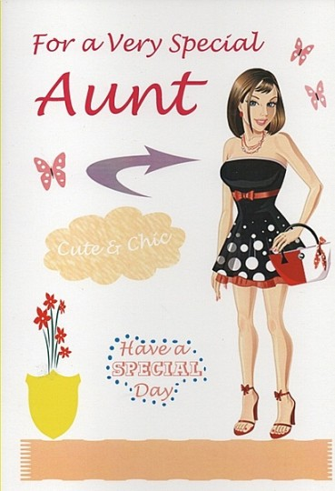 Aunt Birthday Wishes Card