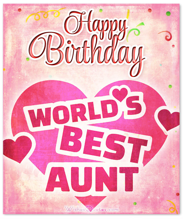 Aunt Birthday Wishes Ecard