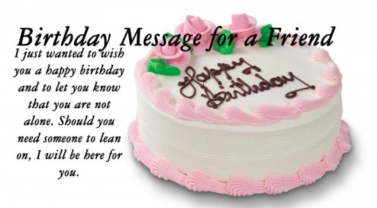 Beautiful Birthday Cake Wishes Message