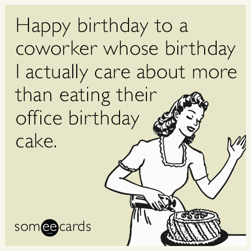 Beautiful Coworker Birthday Ecard Message