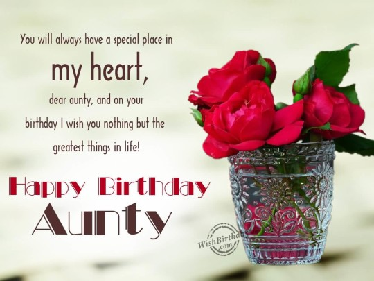 Beautiful Rose Birthday Wishes For Aunt