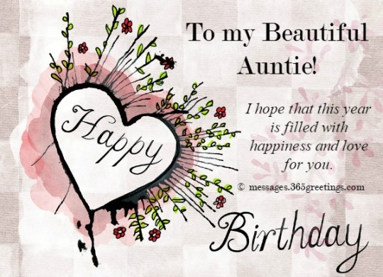 Beautiful Wishes For Aunt Birthday