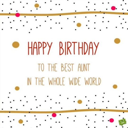 Best Aunt Birthday Wishes Message