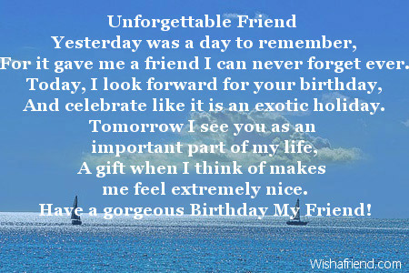 Best Friend Birthday Poem