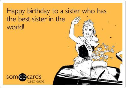 Best Sister Birthday Ecard