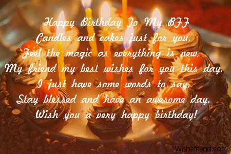 Best Wishes Birthday Poem