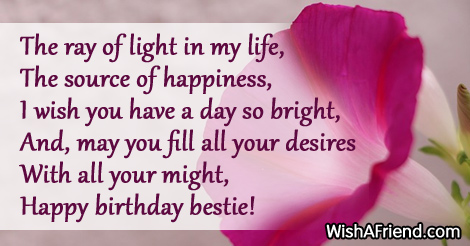 Bestie Birthday Sayings