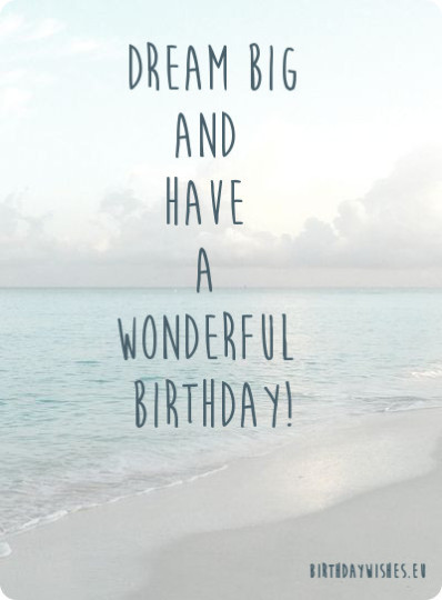 Big Day Birthday Quotes