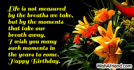 Birthday Sayings About Life