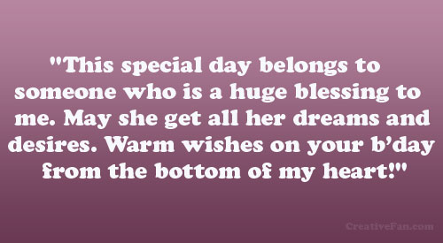 Blessing Birthday Quotes