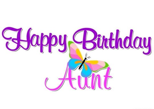 Butterfly Aunt Birthday Wishes
