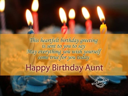 Candle Light Aunt Birthday Wishes