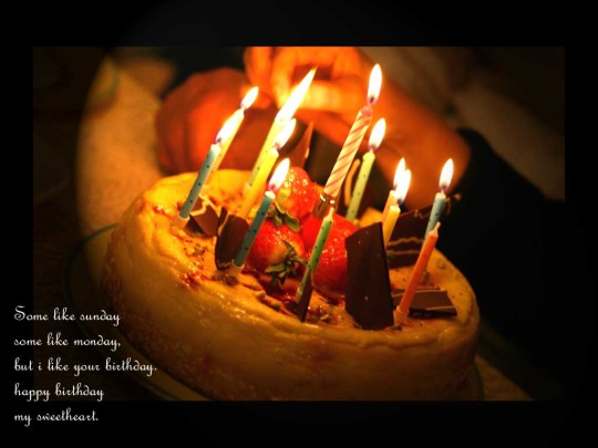 Candle Light Birthday Cake Wishes