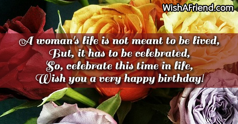 Celebrate Birthday Sayings For Woman